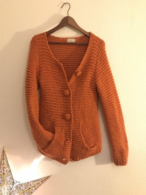 Strickjacke || herbst orange || 3 Suisses || 38/40