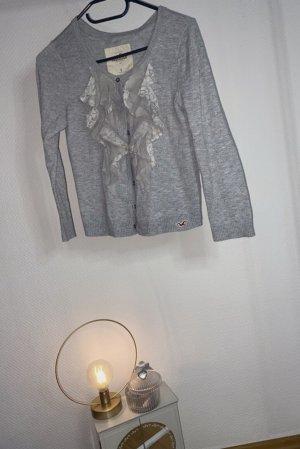 Hollister Chaqueta estilo camisa gris claro