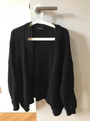 Topshop Coarse Knitted Jacket black