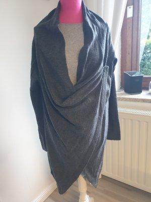 Gina Benotti Cache-cœur en tricot gris foncé acrylique