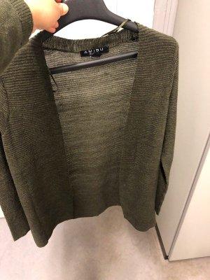 Amisu Rebeca gris verdoso-caqui tejido mezclado