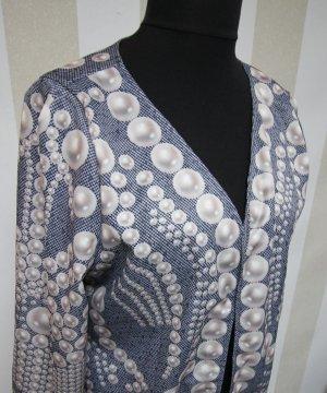 Strickjacke Jacke mit Perlen Motiv