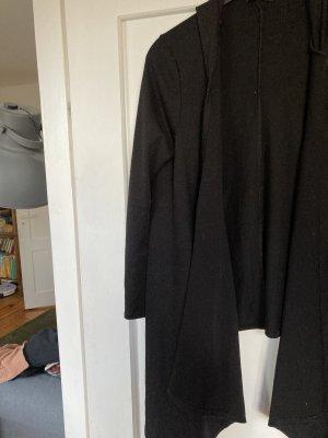 Strickjacke kaputzenjacke schwarz 40 42 L XL cardigan