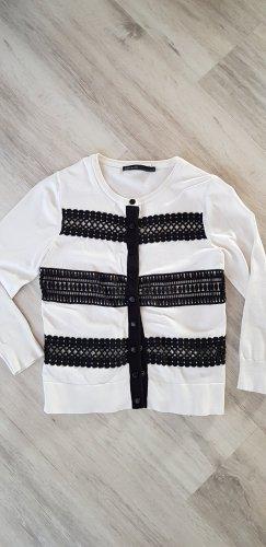 KAREN MILLEN Giacca in maglia bianco-nero Cotone