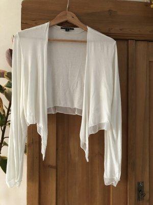 Strickjacke kurz - Comma - Gr. 40 - cremeweiß weiß