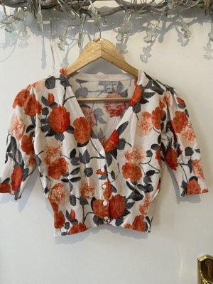 H&M Cardigan a maniche corte bianco-arancione
