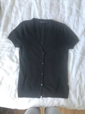 H&M Short Sleeve Knitted Jacket black cotton