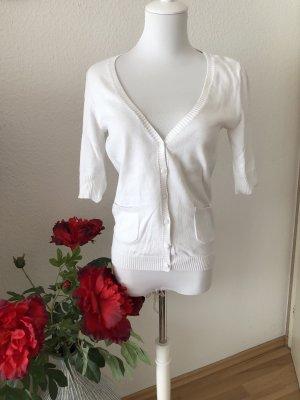 Vintage Short Sleeve Knitted Jacket white