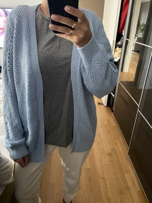 Strickjacke L Cardigan blau Pullover