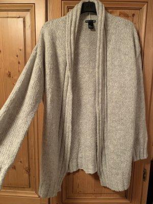H&M Cárdigan de punto grueso gris claro