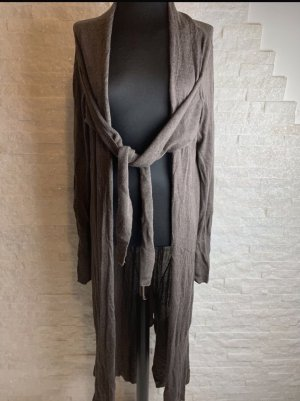 Batik Płaszcz z dzianiny szaro-brązowy