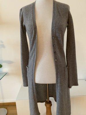 Abrigo de punto gris claro-gris Cachemir