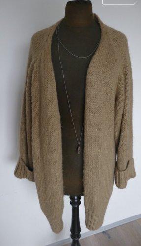 Zara Cappotto a maglia color cammello