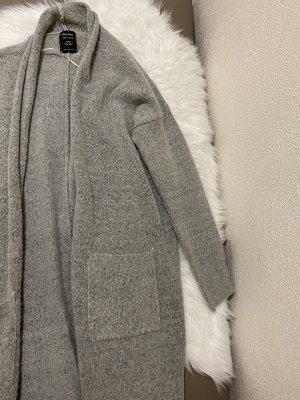 Bershka Giacca di lana grigio-grigio chiaro