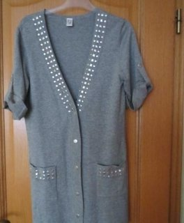 Anna Wenz Sweater met korte mouwen lichtgrijs-grijs