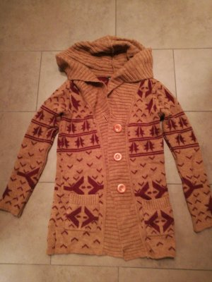 Mango casual Norwegian Cardigan cognac-coloured-bordeaux
