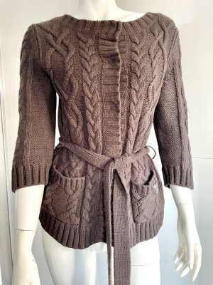 Marc O'Polo Short Sleeve Knitted Jacket bronze-colored wool
