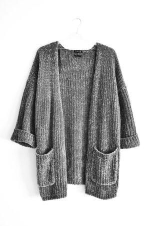 Massimo Dutti Cardigan a maglia grossa argento-grigio chiaro