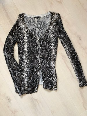 Strickjacke mit Animal-Print
