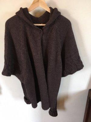 ODEON Short Sleeve Knitted Jacket dark brown