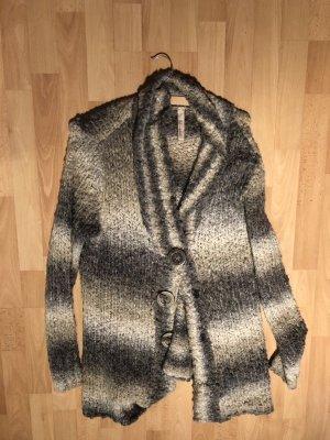 Essentials oui Veste tricotée en grosses mailles multicolore