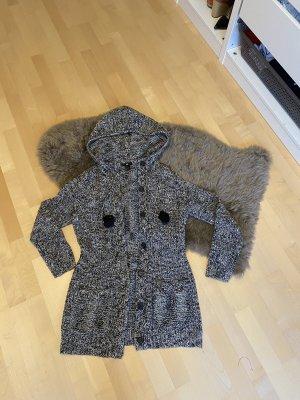 H&M Veste en laine noir-blanc
