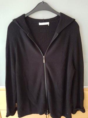 Strickjacke mit Kapuze Monari schwarz, Gr. 42