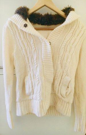 Pimkie Coarse Knitted Jacket natural white polyacrylic