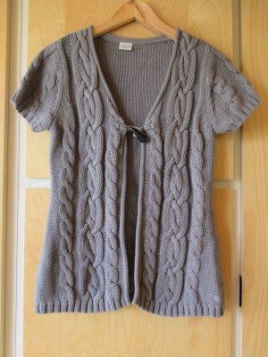 Esprit Short Sleeve Knitted Jacket grey cotton
