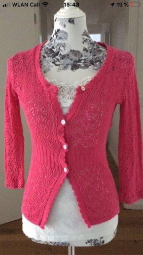 Crochet Cardigan pink