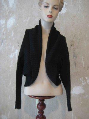 Strickjacke mit Mohair/Wolle/Tierhaar im Bolero-Style - casual Look