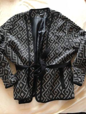 H&M Veste chemisier blanc-noir