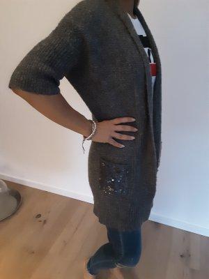 Chelsea Rose NYC Short Sleeve Knitted Jacket grey