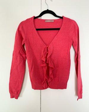 Strickjacke mit Rüschen von 3Suisses Größe XS Pink
