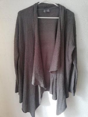 H&M Cárdigan de punto grueso gris oscuro-gris antracita