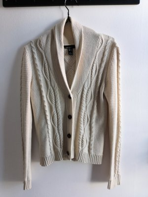 Mango Basics Cardigan a maglia grossa beige chiaro Cotone