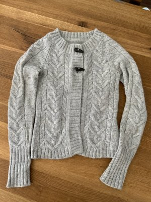 H&M Coarse Knitted Jacket light grey