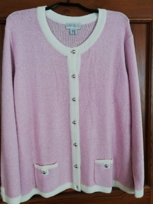 Creation L. Cardigan white-pink polyacrylic