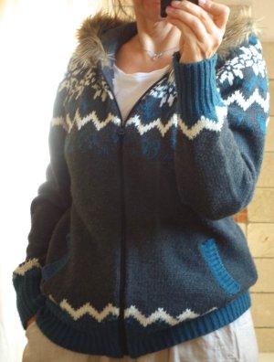 Outfit Noors vest petrol-wit Acryl