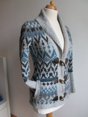 Strickjacke Norwegermuster Wolle Playlife Gr. M/S