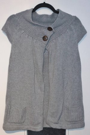Roxy Cárdigan de manga corta gris claro