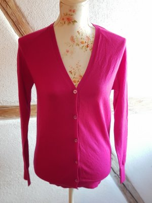 Strickjacke pink aus Wolle und Seide