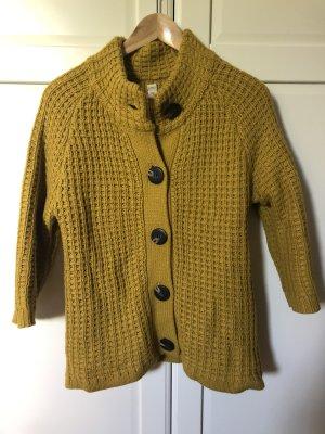 Pull & Bear Giacca in maglia sabbia-giallo lime
