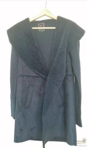 Cardigan a maglia grossa blu scuro