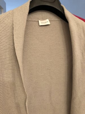 René Lezard Cardigan in maglia grigio chiaro-argento Lana vergine