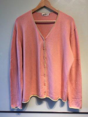 Avitano Veste en tricot rose-jaune primevère
