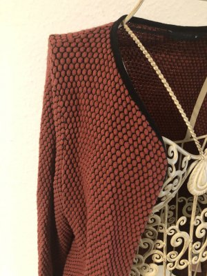 Strickjacke rot/schwarz Only