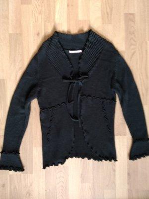 keine Coarse Knitted Jacket black cotton