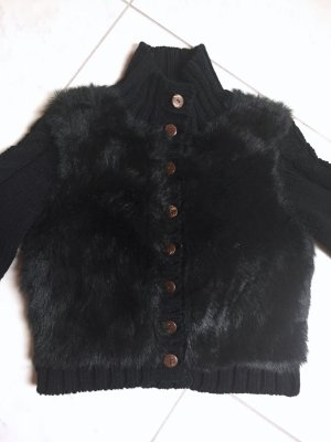 Coarse Knitted Jacket black