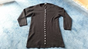 Strickjacke schwarz perlmuttknöpfe Gr. M